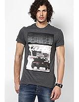 Dark Grey Originals Round Neck T-Shirt