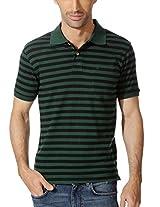 Allen Solly Striped Cotton Polo Tee