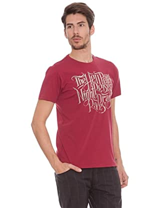 Timeout Camiseta Print Frontal (rojo carmín)