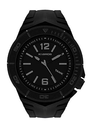 K&BROS 9566-1 / Reloj de Caballero  con correa de caucho Negro