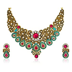 Zaveri Pearls Amazing Carve Necklace Set for Women-ZPFK385