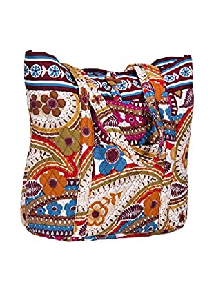 Home Essentials and Beyond Carolyn Large Tote Bag, Multi