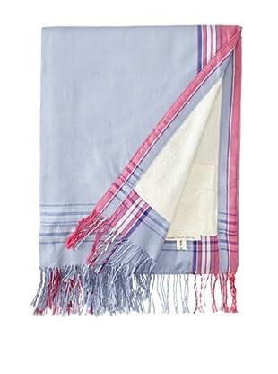 Nomadic Thread Society Fringed Surf Sarong Towel (Lavender/White)