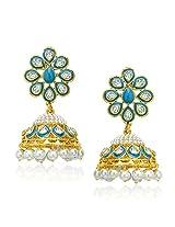 VK Jewels Pearl Beaded Jhumki Earring set -ERZ1117G [VKERZ1117G]