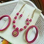pink nacklace set