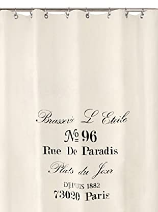 Park B. Smith Brasserie Shower Curtain, Natural/Black, 72