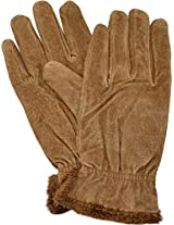 ISO Isotoner Women's Luggage Brown Suede Winter Gloves with Microluxe Lining; XL
