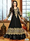 Faux Georget Embroiderd Resham Embroidery Brown Anarkali Suits - Bfmf36005