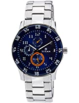 Titan Octane Analog Blue Dial Men's Watch - 1632SM03