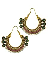 Ethnic Indian Bollywood Jewelry Set Traditional Fashion Imitation EarringsCHEA0215MG