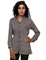 TeeMoods Stylish Ladies Casual Printed Shirt_TM-1608PRTDA-M