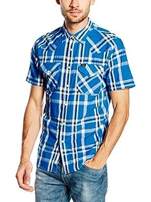 Lee Camisa Hombre Western Ss Snorkel Blue