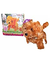 Battery Operated Walking And Barking Fuzzy Toy Dog With Hat