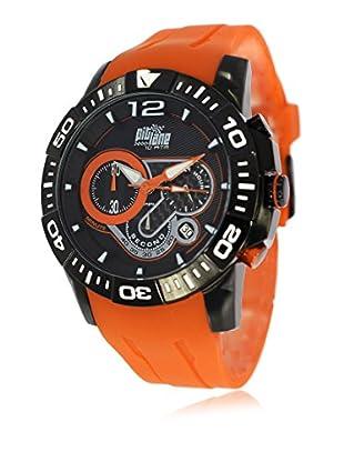 Pit Lane Uhr mit Miyota Uhrwerk Pl-1011-5 orange 45 mm