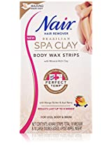 Nair Brazilian Spa Clay Body Wax Strips, 40 strips