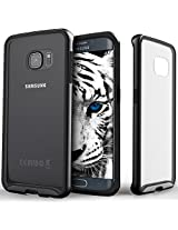 Galaxy S6 Edge case Caseology [Dual Bumper Clearback] [Metallic Black] DIY Customization Fusion Hybrid Cover [Shock Absorbent] Samsung Galaxy S6 Edge case