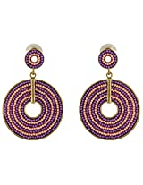 Nakshatra Collection Mehandi Golden Polish Metal Dangle & Drop Earring For Women