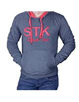 SWEATSHIRT WITH HOODER NAVY HC611542 42 LARGE