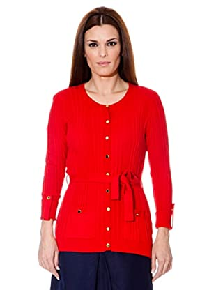 Cortefiel Cardigan Tricot (Rot)