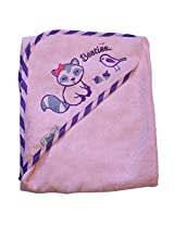 "Extra Large 40""x30"" Velour Hooded Towel, Raccoon, Frenchie Mini Couture"