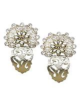 Fida Floral Kundan Stud Earrings for Girls,Women