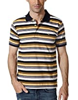 Peter England Derby Striped Regular Fit Polo T Shirt