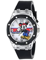 "Disney Kids' MK1267 ""Team Mickey"" Watch With Black Rubber Band"