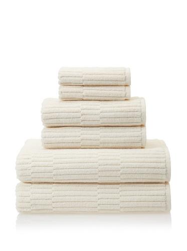Chortex Oxford 6-Piece Bath Towel Set, Almond