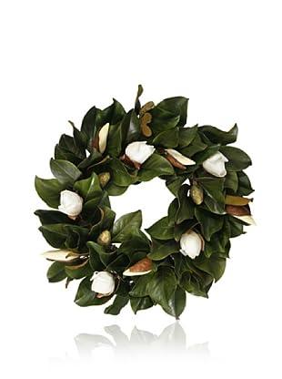 Winward Magnolia Bud Leaf Wreath