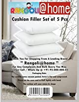 Rangoli@home Set of 5 pcs of superior quality Cushion Fillers 16 inch X 16 inch