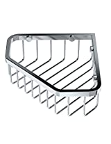 Gatco 1499 8 Inch Shower or Tub Corner Basket, Chrome