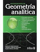 Antecedentes de geometria analitica / Records of Analitical Geometry