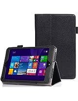 SUPCASE Lenovo Thinkpad 8 Case - Premium Slim Fit Leather Book (Black, Elastic Hand Strap, Multi-Angle, Card Holder, 3 Year Manufacturer Warranty)