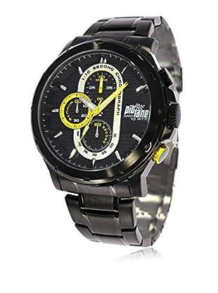 Pit Lane Uhr mit Miyota Uhrwerk Pl-1015-4 schwarz 45 mm