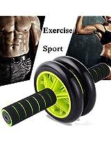 Abdominal Wheel Roller Exercise Sport Waist Trainer Fitness Body Shaper Equipment (Color: Green)