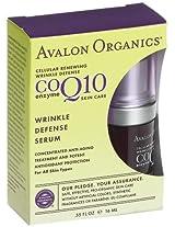 Avalon Organics Coq10 Wrinkle Defense Serum .55 Oz. Liquid