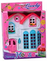 Doll House With Pink Door - Pink