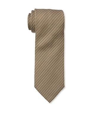 Armani Collezioni Men's Striped Tie, Dark Brown