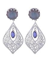 Kalptaru Gems and Jewelery sterling-silver Dangle & Drop Earrings for Women (Silver)