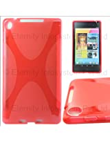 DMG Flexible Silicone TPU Back Cover Case for ASUS Google Nexus 7 2013 Tablet with DMG Wristband (Red)