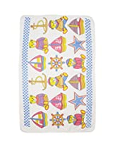 Wonderkids Blue Multi Print Baby Bath Towel