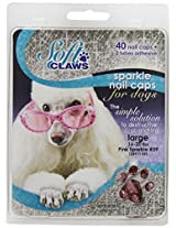 Soft Claws Dog and Cat Nail Caps Take Home Kit, Large, Sparkle Pink