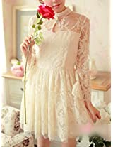 OnlyUrs Sweet Lace Sleeves Slim Fit Dress For Women