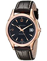 Hamilton Men's H32445585 Jassmaster Viewmatic Black Dial Goldtone Watch