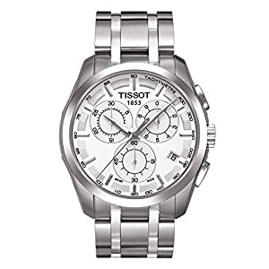 TISSOT COUTURIER PRC 200 LUXURY CHRONOGRAPH WHITE DIAL MENS WATCH