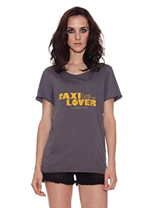 The Hip Tee Camiseta Taxi Lover (Negro Lavado)