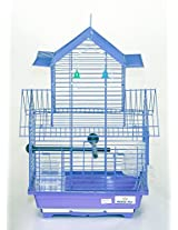 Pet Club51 HIGH QUALITY PET BIRD CAGE FINCH DOUBLE FLOOR CAGES -PURPLE