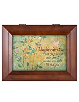 Daughter-in-Law We Love You Wood Finish Jewelry Music Box - Plays Tune You Are My Sunshine