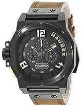 Haurex Italy Men's 6N510UNT Space Chrono Analog Display Quartz Brown Watch