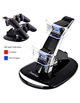 Insten Dual Charging Station Compatible With Ps3 Controller Black